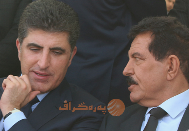 Led by deputy leader of PUK Kosrat Rasul, and deputy leader of KDP Nechirvan Barzani, the two parties met for a new agreement. Photo: Surkew Mohammed / Peregraf