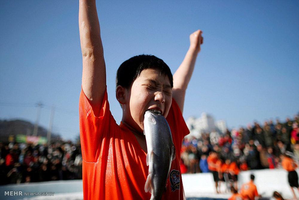 بە وێنە؛ فیستیڤاڵی ماسی گرتن له ڕووباری سههۆڵیدا